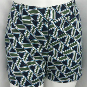 BLUE-GREEN GEO PRINT CASUAL SHORTS SIGNATURE FIT 6